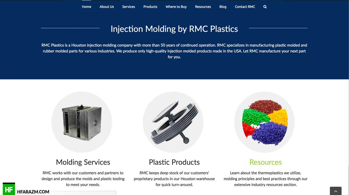 rmc-plastics-home-section-web-design-development-portfolio-hfarazm