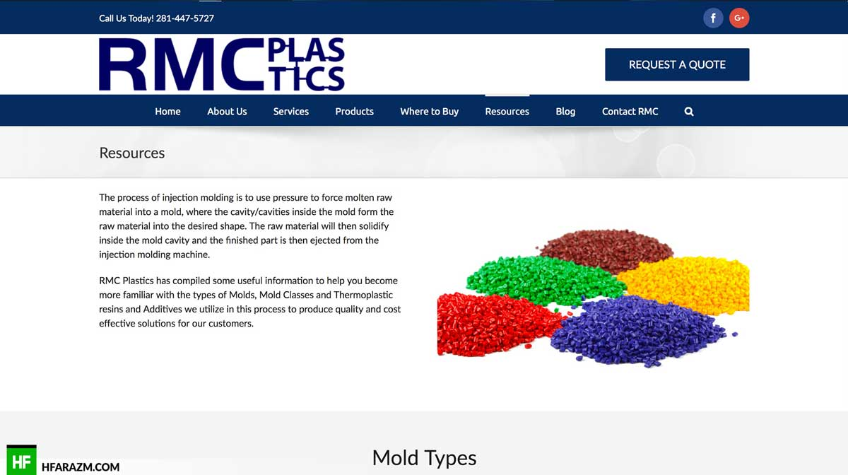 rmc-plastics-resources-page-web-design-development-portfolio-hfarazm