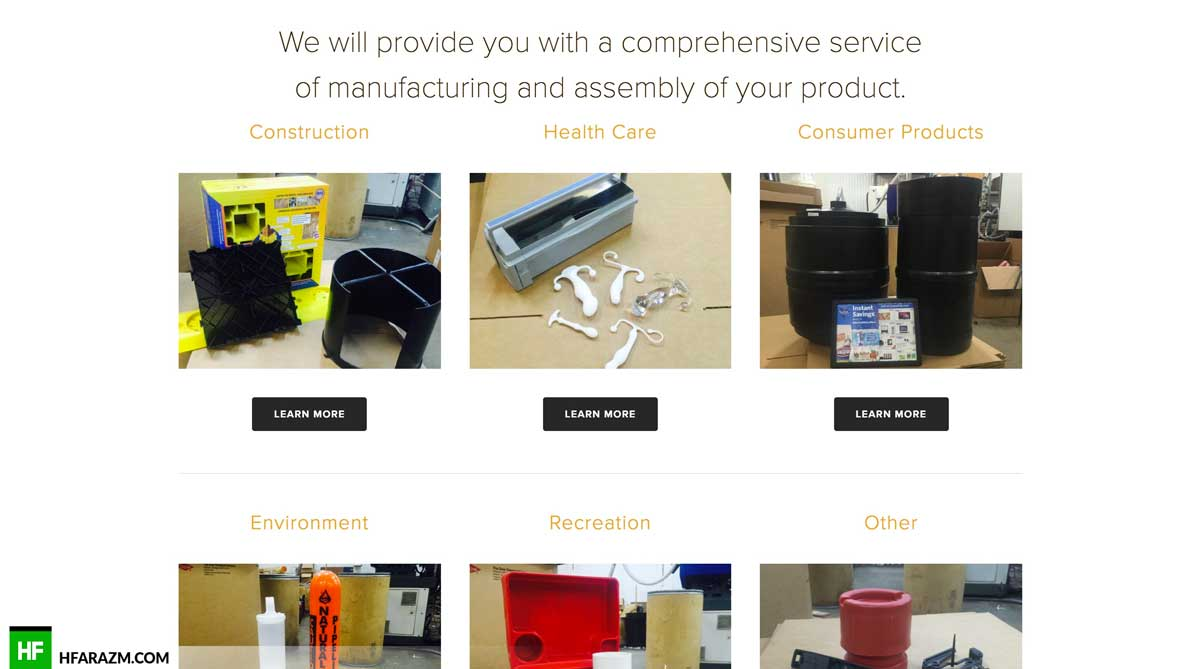 am-plastics-services-page-web-design-development-portfolio-hfarazm
