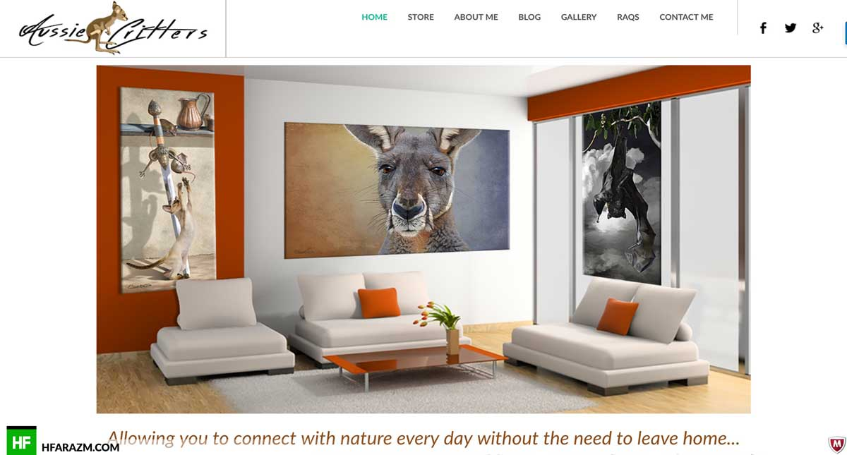 aussie-critters-home-section-web-design-development-portfolio-hfarazm