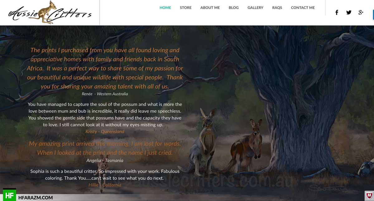 aussie-critters-testimonial-section-web-design-development-portfolio-hfarazm