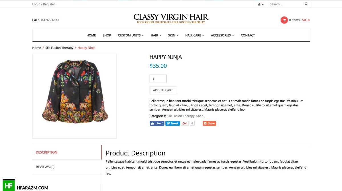 classy-virgin-hair-product-description-page-web-development-portfolio-hfarazm