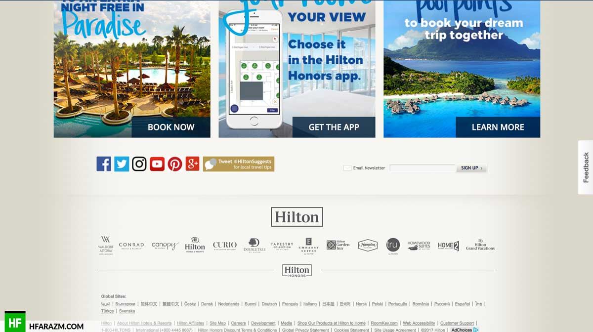 hilton-footer-section-web-optimization-website-review-portfolio-hfarazm