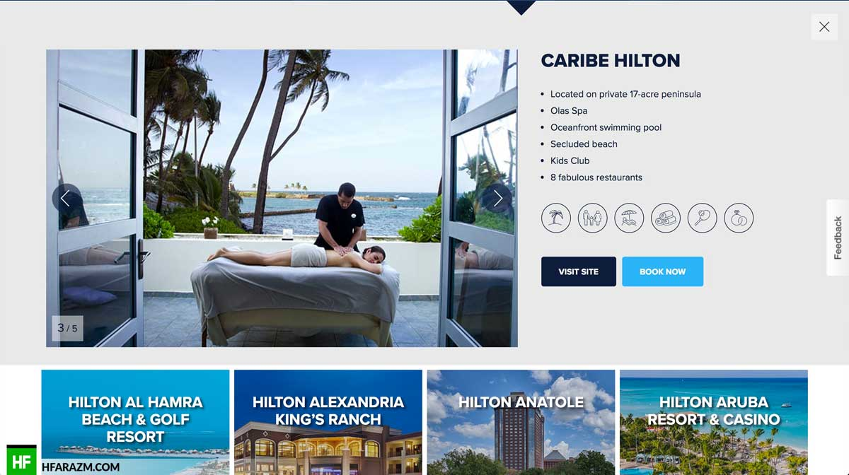 hilton-hotel-description-section-web-optimization-website-review-portfolio-hfarazm
