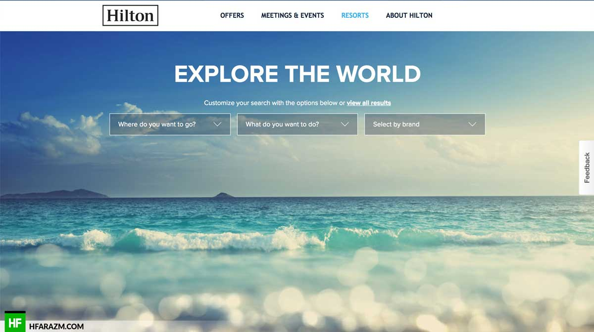 hilton-resorts-home-section-web-optimization-website-review-portfolio-hfarazm