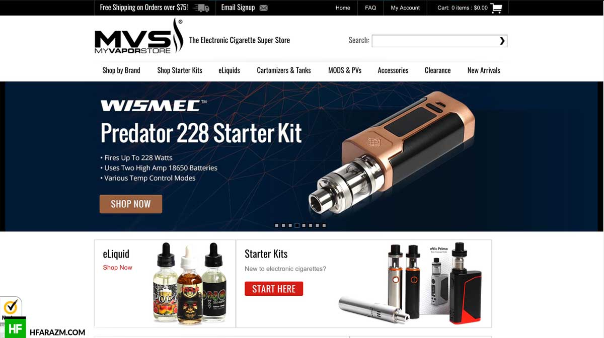vapor-store-home-page-web-optimization-seo-review-portfolio-hfarazm