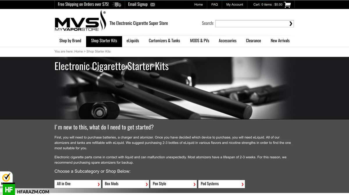 vapor-store-starter-kit-page-web-optimization-seo-review-portfolio-hfarazm