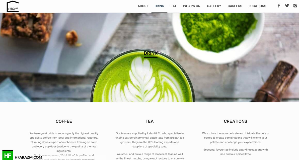 Curators-Coffee-London-UK-homepage-web-design-portfolio-Hfarazm