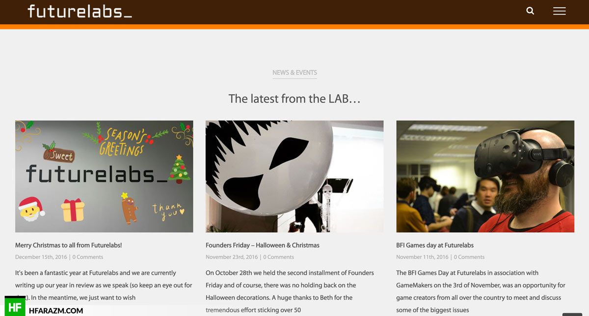 Future Labs UK News Events Web design Hfarazm