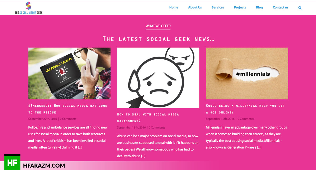 My Social Media Geek Bog Web design Hfarazm