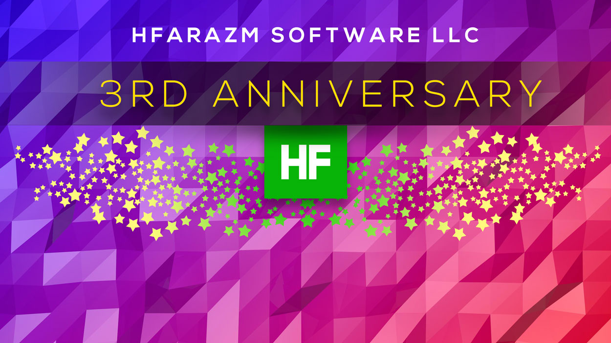 Hfarazm Software LLC - 3 years celebration