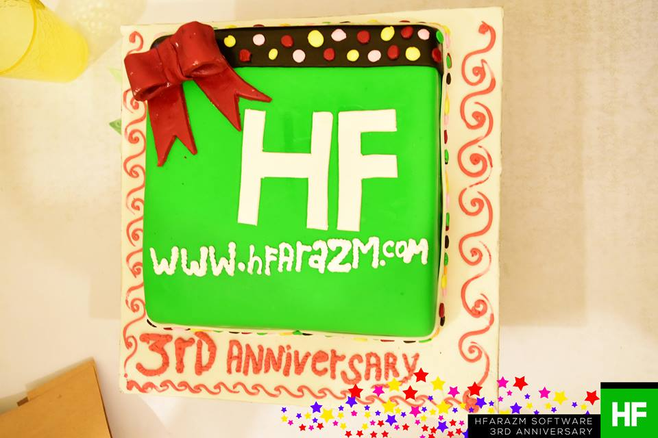 third-aniversery-cake-hfarazm-web-development-agency
