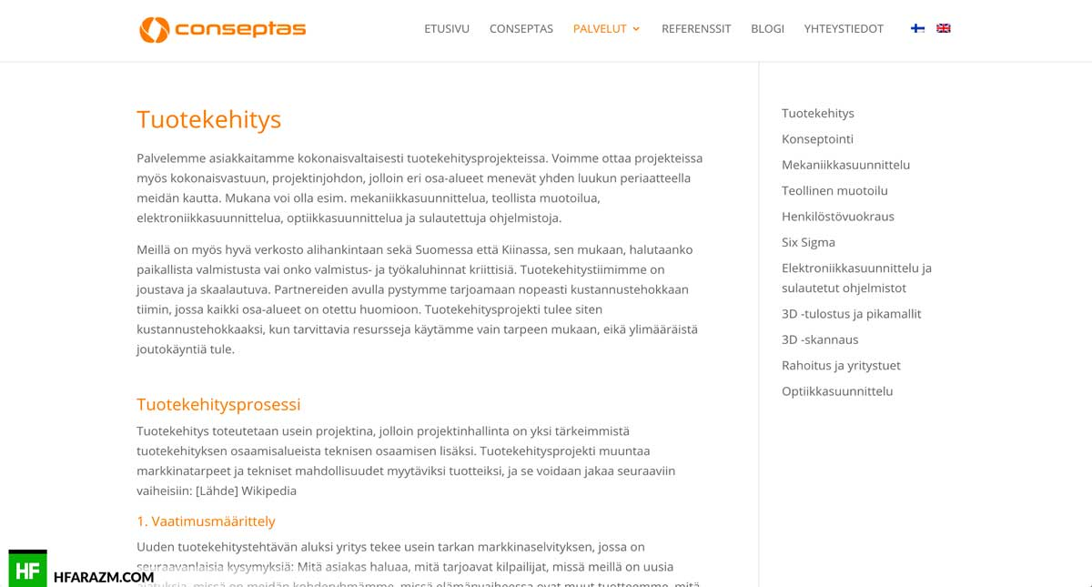 conseptas-services-page-web design-development-optimization-seo-security-portfolio-hfarazm