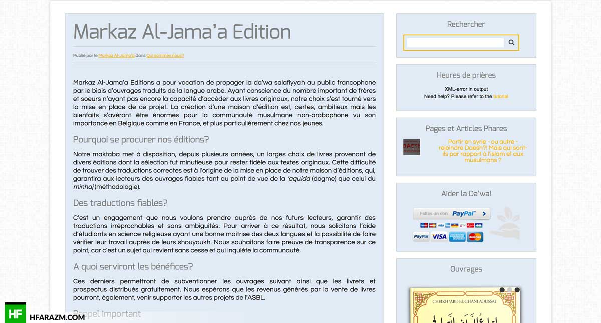 markaz-al-jamaa-post-page-web design-development-optimization-seo-security-portfolio-hfarazm