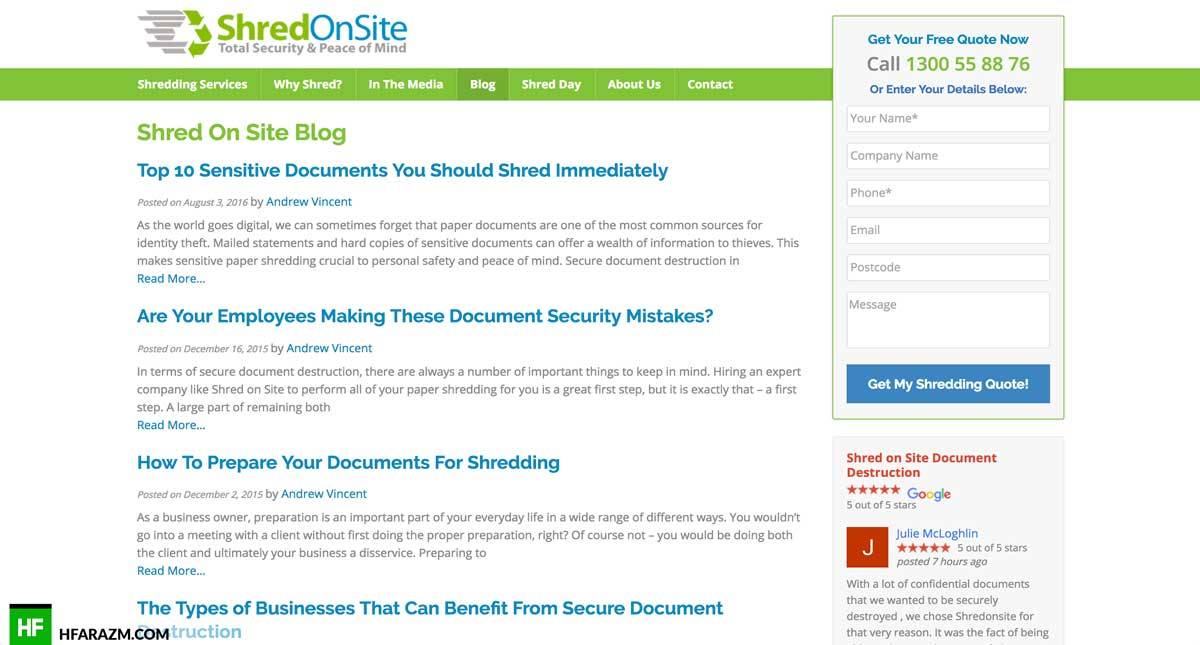 shred-onsite-blog-page-web design-development-optimization-seo-security-portfolio-hfarazm