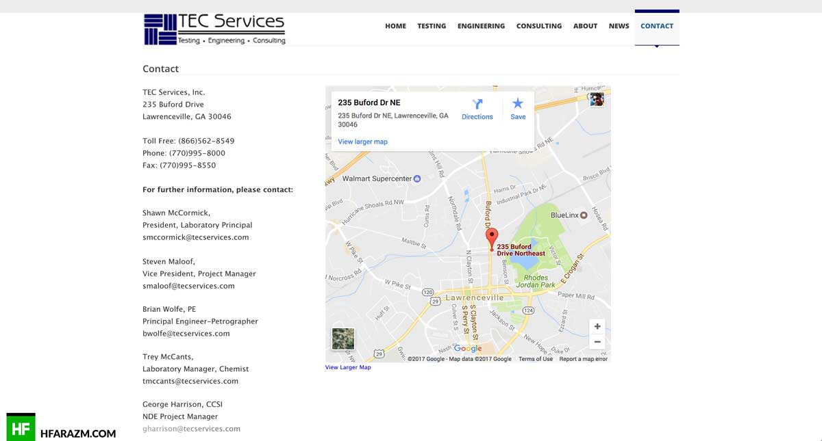 tec-services-contact-page-web design-development-optimization-portfolio-hfarazm