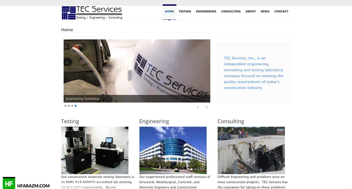 tec-services-home-page-web design-development-optimization-portfolio-hfarazm