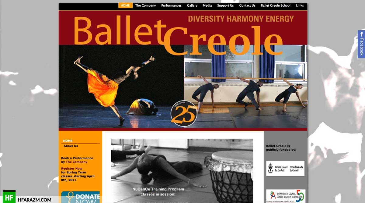 ballet-creole-home-page-web-design-development-optimization-portfolio-hfarazm