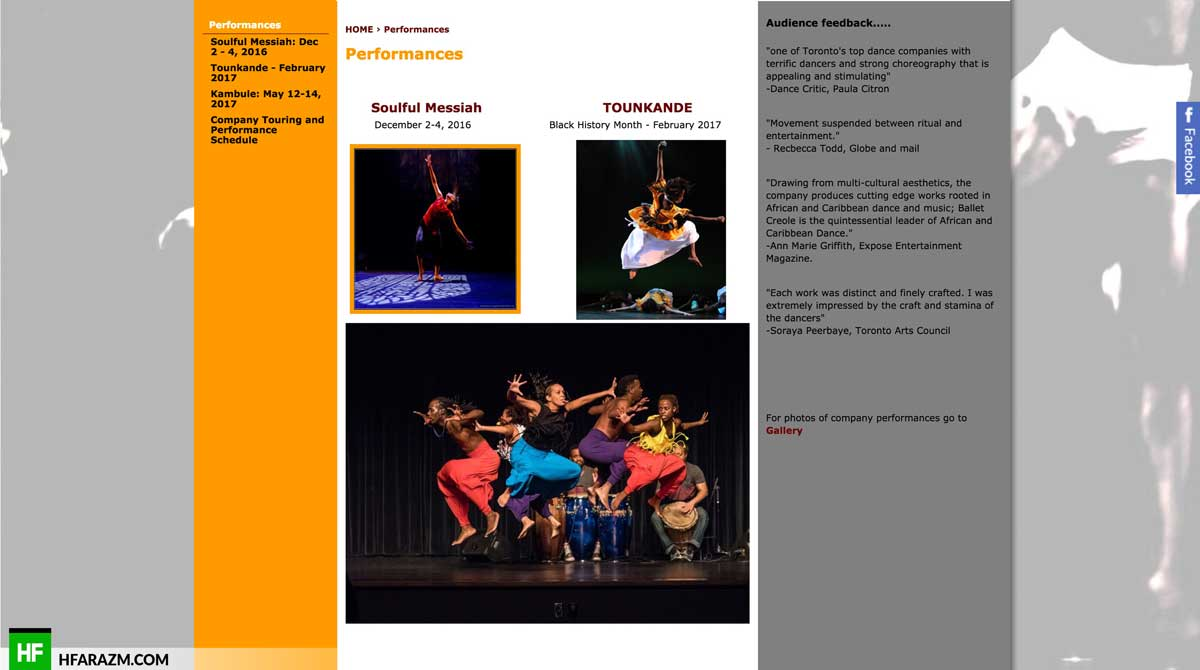 ballet-creole-performance-page-web-design-development-optimization-portfolio-hfarazm
