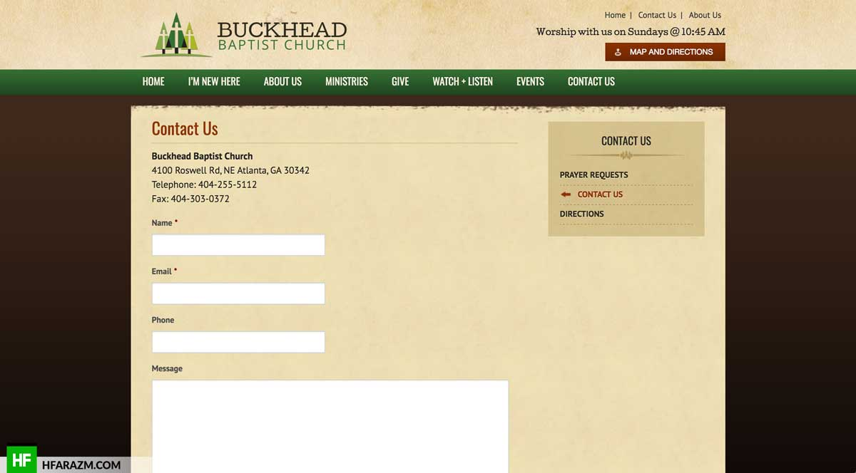 buckhead-baptist-contact-page-web-design-development-optimization-portfolio-hfarazm