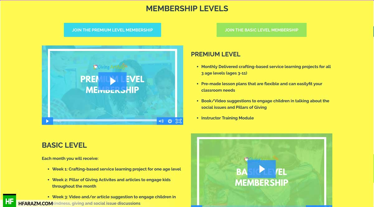 giving-artfully-kids-membership-levels-page-web-design-development-seo-security-optimization-portfolio-hfarazm