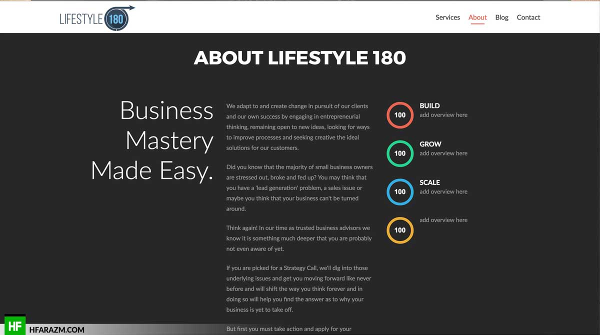 life-style-180-about-page-web-design-development-seo-optimization-portfolio-hfarazm