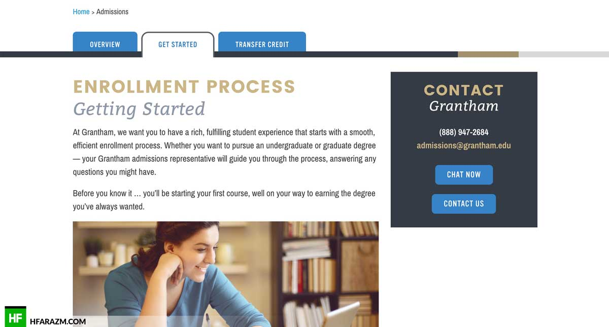 enrollment-process-grantham-web-design-development-hfarazm-software-agency