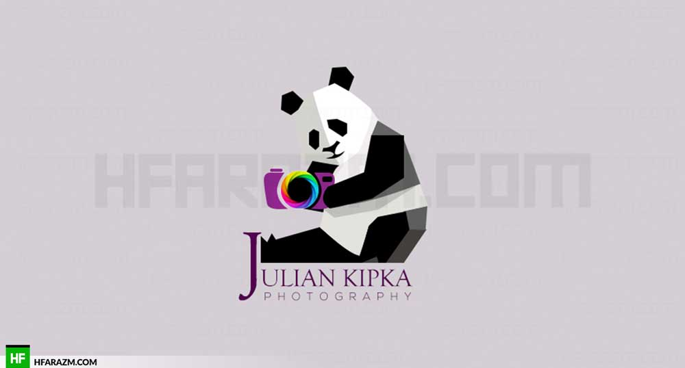 julian-kipka-photography-low-poly-panda-camera-logo-portfolio-design-agency-hfarazm-software