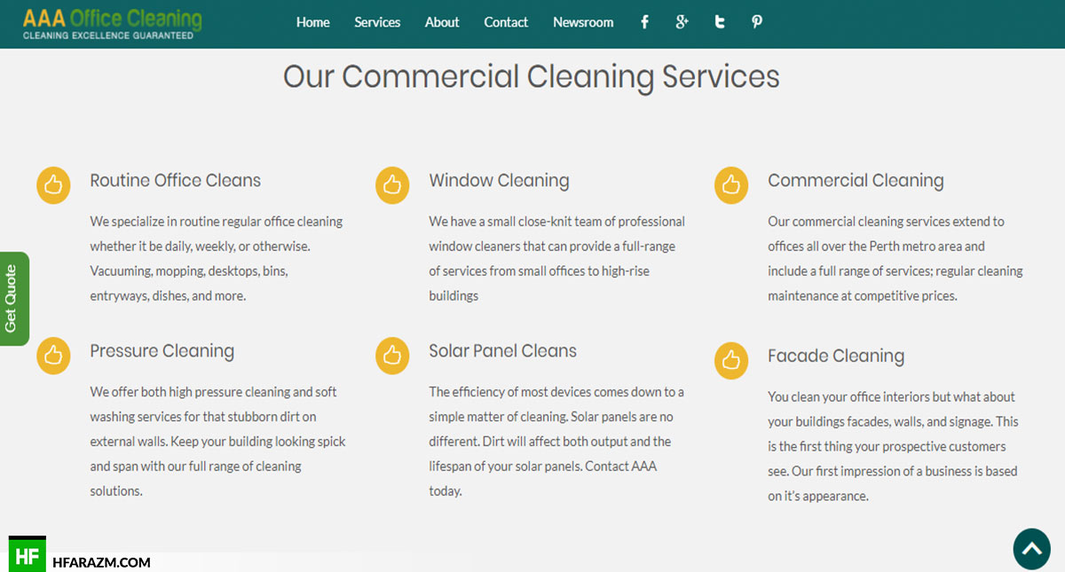 aaa-office-cleaning-our-service-web-design-portfolio-Hafrazm