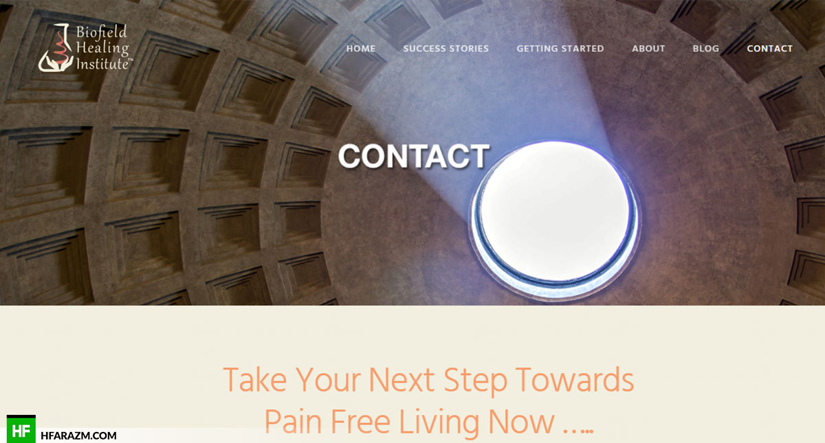 biofield-healing-institute-contact-us-web-design-portfolio-Hafrazm