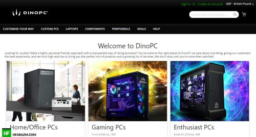 dino-pc-home-page-web-design-portfolio-Hafrazm