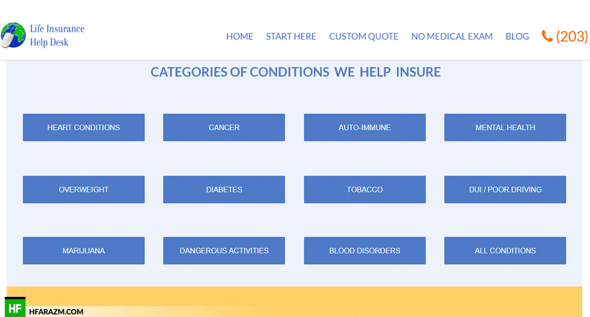 life-insurance-help-desk-categories-web-design-portfolio-Hafrazm
