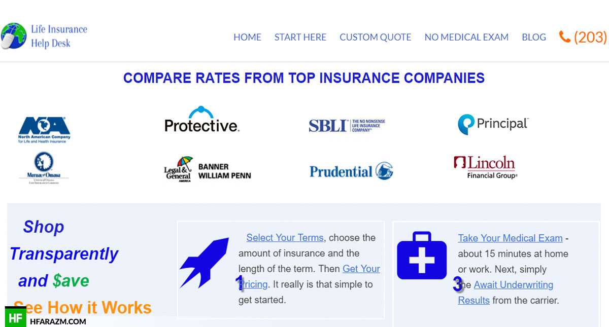 life-insurance-help-desk-compare-rate-web-design-portfolio-Hafrazm
