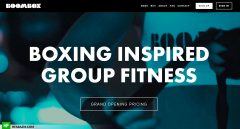 BoomBox Boxing Homepage Web Design and Development by Hfarazm Software