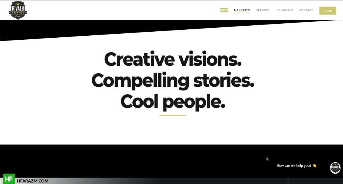 Rivals Creative Homepage Manifesto The Rivals Creative Web Design and Development by Hfarazm Software