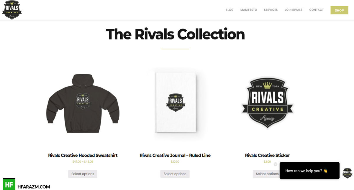 Rivals Creative Shop The Rivals Creative Web Design and Development by Hfarazm Software