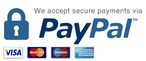 We accept secure payments via Paypal