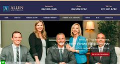 Allen Law Firm P.A. Home Page Web Design and Development by Hfarazm Software