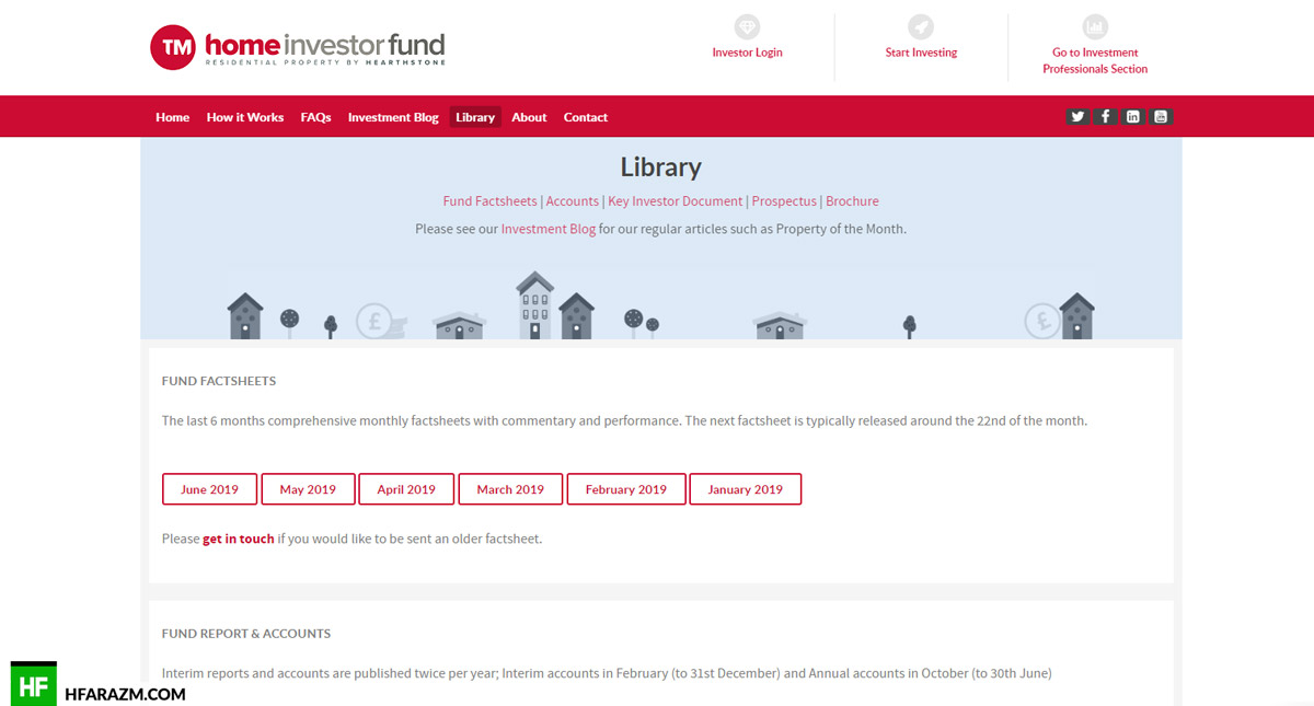 Home Investor Fund Home Page Library Web Design and Development by Hfarazm Software