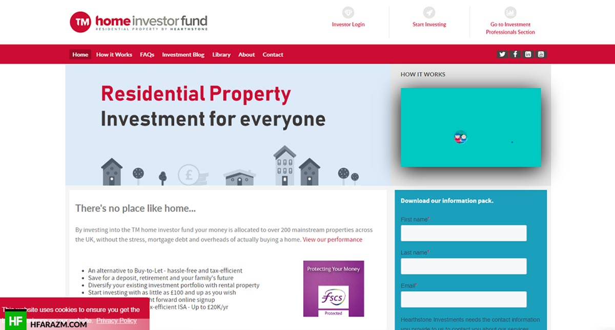 Home Investor Funds Home Page Web Design and Development by Hfarazm Software