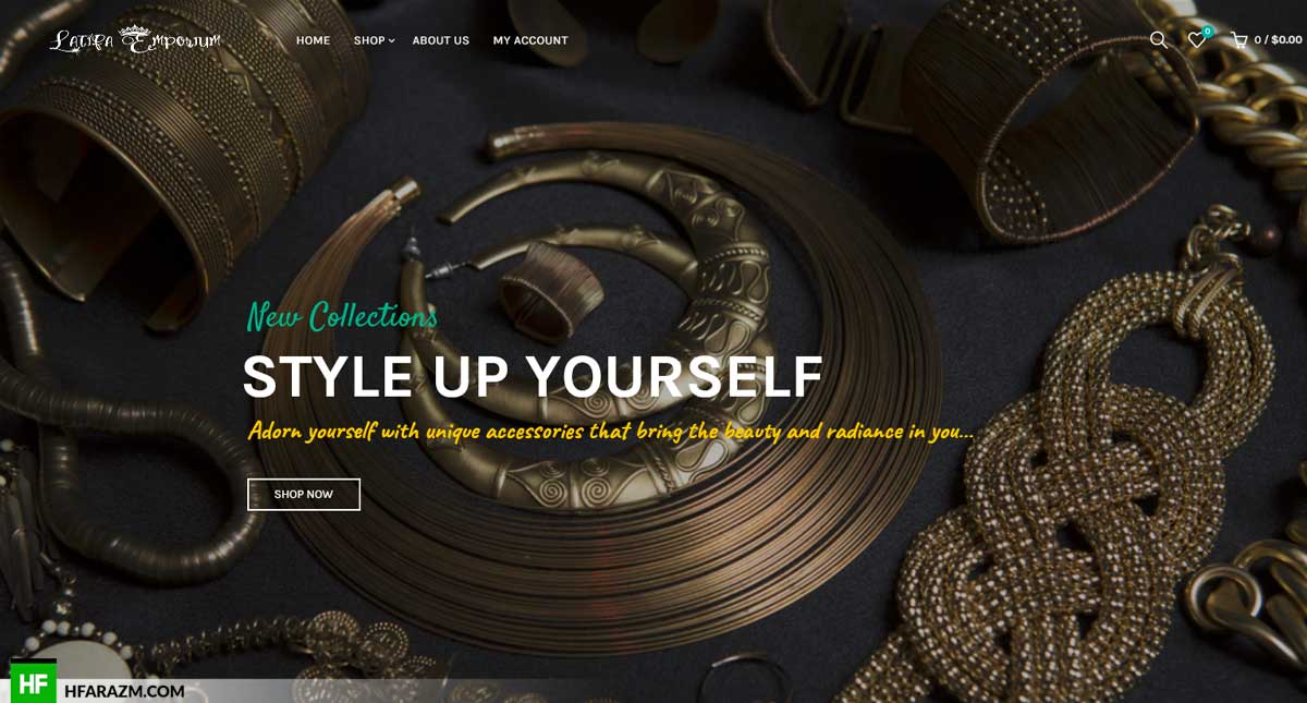 Latifa Emporium Home Page Web Design and Development by Hfarazm Software