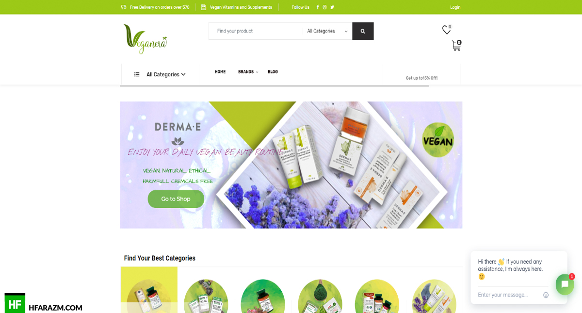 Veganera Home Page Web Design and Development by Hfarazm Software
