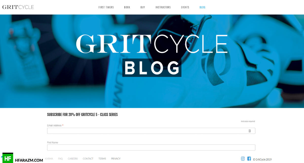 GritCycle Blog Page Web Design and Development by Hfarazm Software