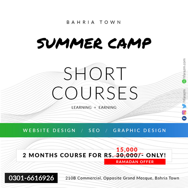 Short Courses in Bahria Town Lahore by Hfarazm Software LLC